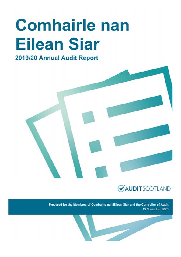 Report cover: Comhairle nan Eilean Siar annual audit 2019/20