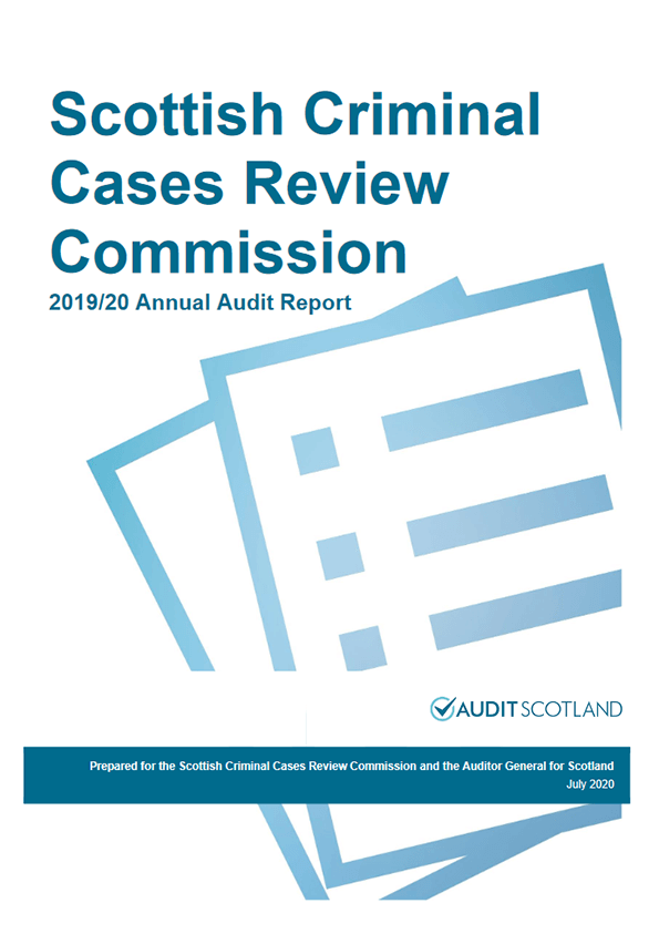 Report cover: Scottish Criminal Cases Review Commission annual audit 2019/20