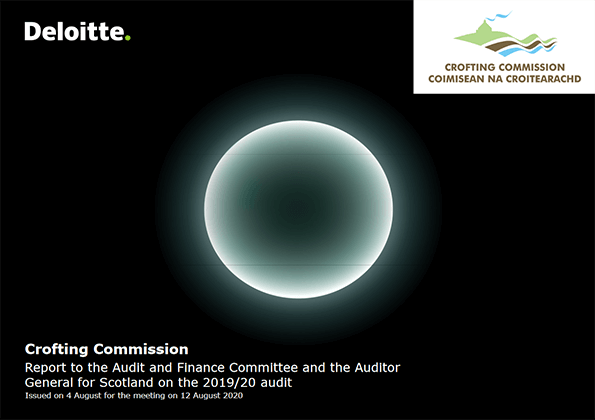 Report cover: Crofting Commission annual audit 2019/20