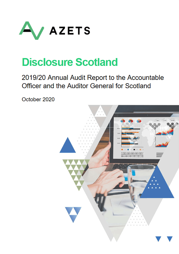Report cover: Disclosure Scotland annual audit 2019/20