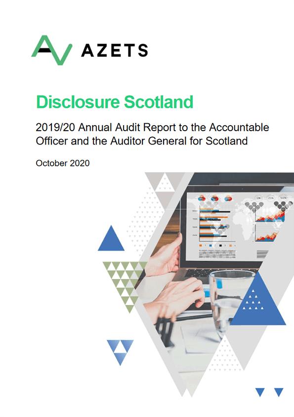 Report cover: Disclosure Scotland annual audit 2019/20