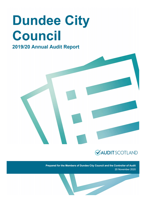 Report cover: Dundee City Council annual audit 2019/20