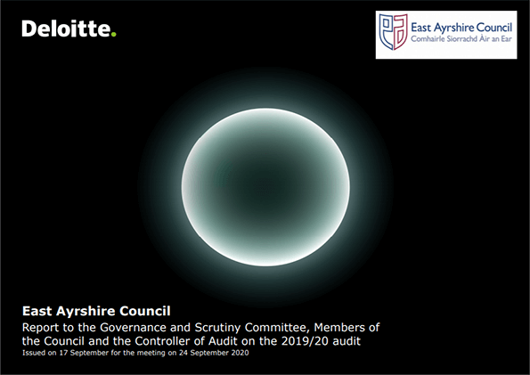 Report cover: East Ayrshire Council annual audit 2019/20