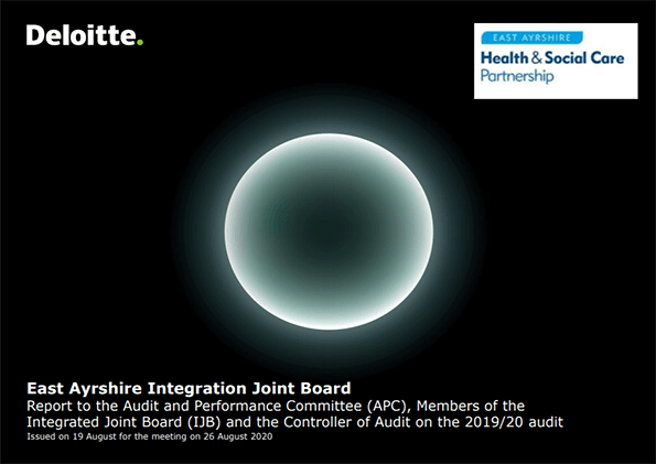 Report cover: East Ayrshire Integration Joint Board annual audit 2019/20