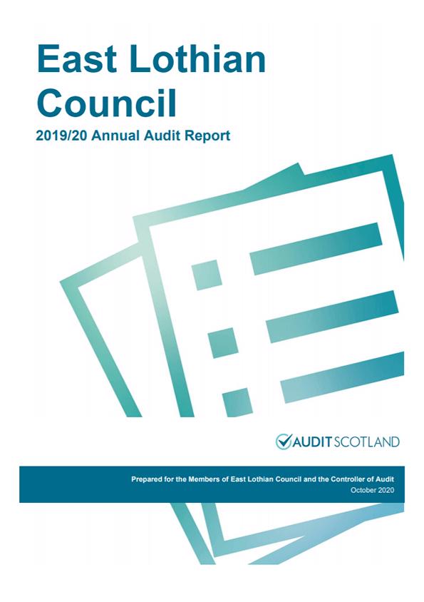 Report cover: East Lothian Council annual audit 2019/20