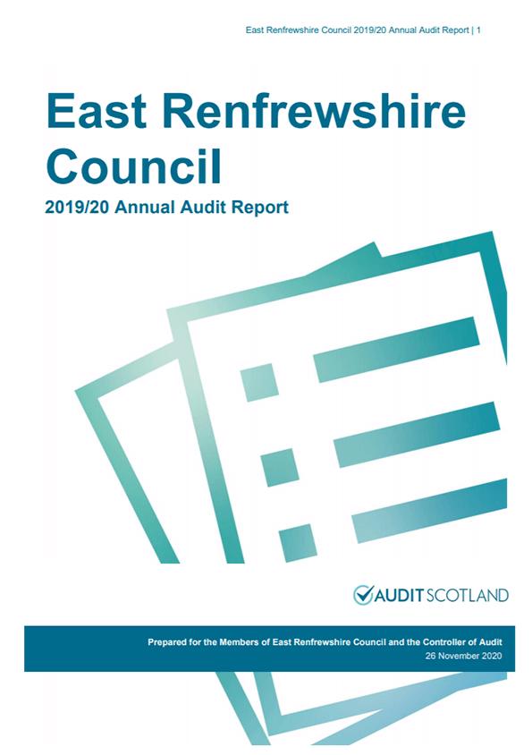 Report cover: East Renfrewshire Council annual audit 2019/20