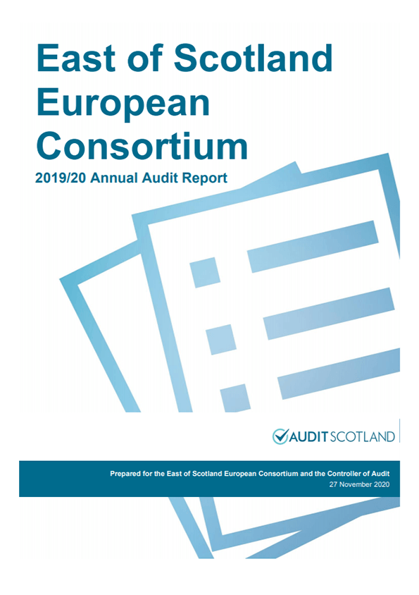 Report cover: East of Scotland European Consortium annual audit 2019/20