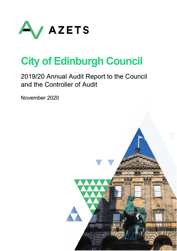 Report cover: City of Edinburgh Council annual audit 2019/20