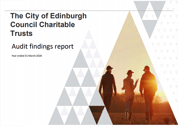 Report cover: City of Edinburgh Charitable Trust annual audit 2019/20