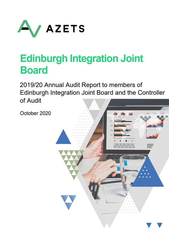 Report cover: Edinburgh Integration Joint Board annual audit 2019/20