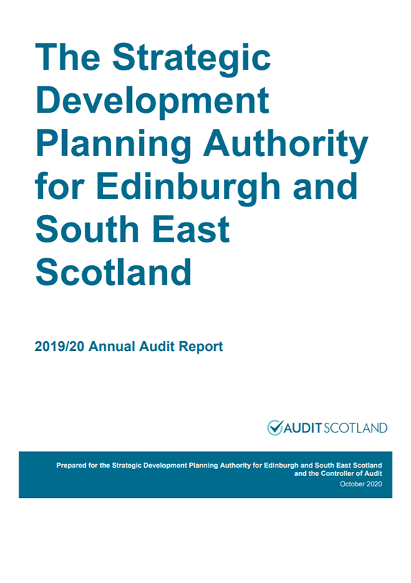 Report cover: Edinburgh and South East Scotland Strategic Development Planning Authority annual audit 2019/20