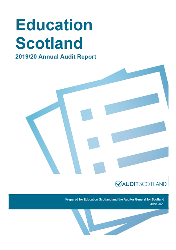 Report cover: Education Scotland annual audit 2019/20