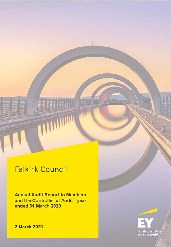 Report cover: Falkirk Council annual audit 2019/20