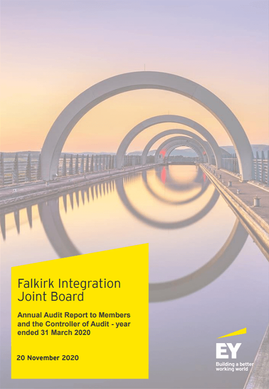 Report cover: Falkirk Integration Joint Board annual audit 2019/20