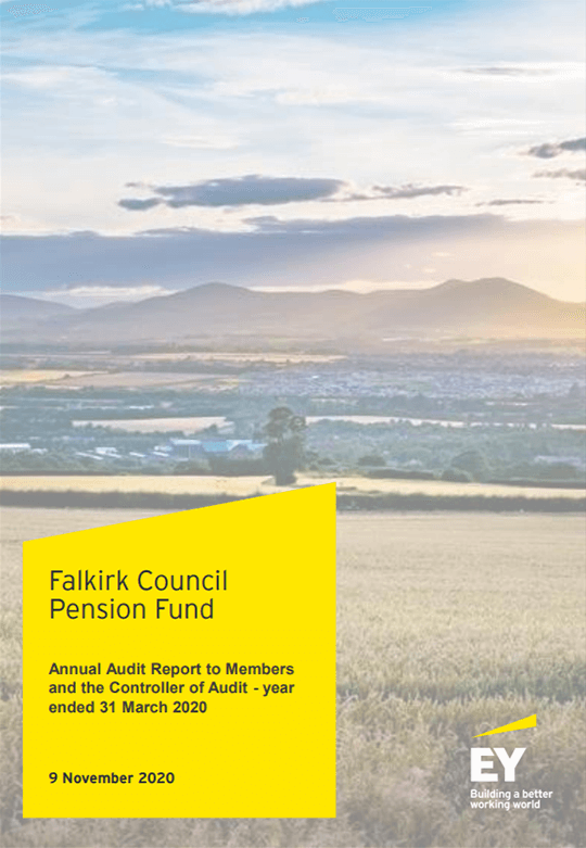 Report cover: Falkirk Council Pension Fund annual audit 2019/20