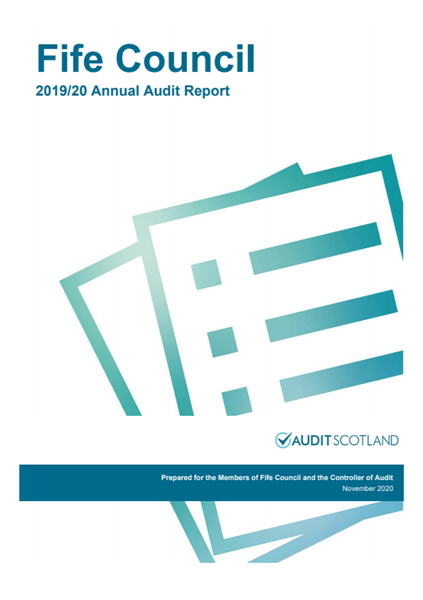 Report cover: Fife Council annual audit 2019/20