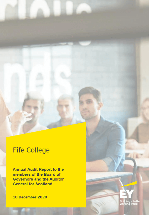 Report cover: Fife College annual audit 2019/20