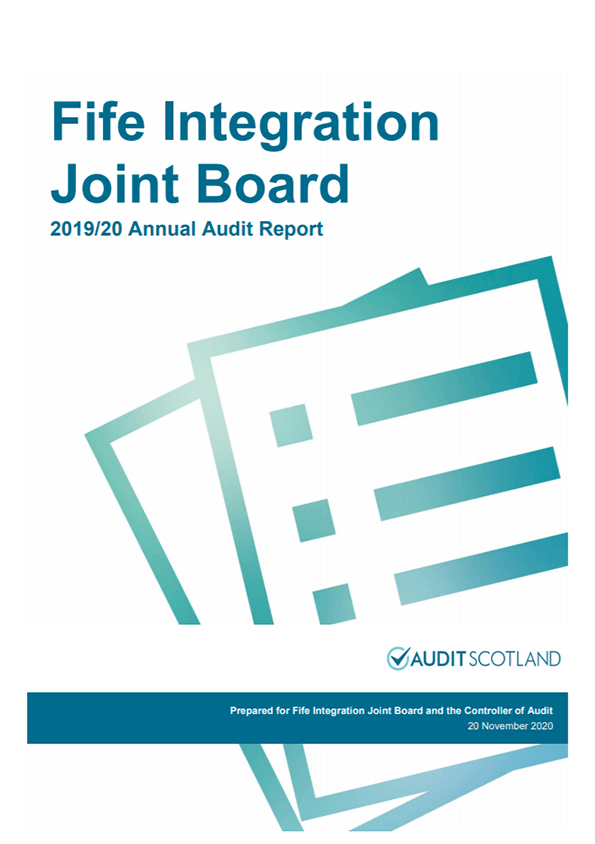 Report cover: Fife Integration Joint Board annual audit 2019/20