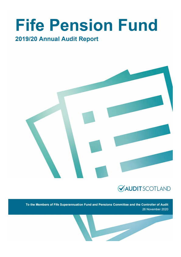 Report cover: Fife Pension Fund annual audit 2019/20