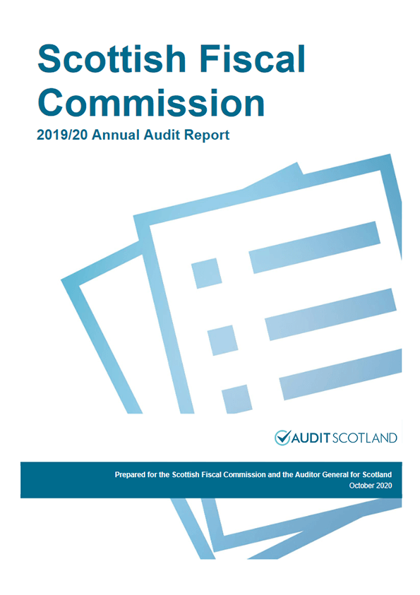 Report cover: Scottish Fiscal Commission annual audit 2019/20