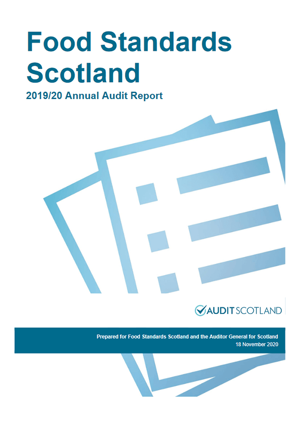 Report cover: Food Standards Scotland annual audit 2019/20