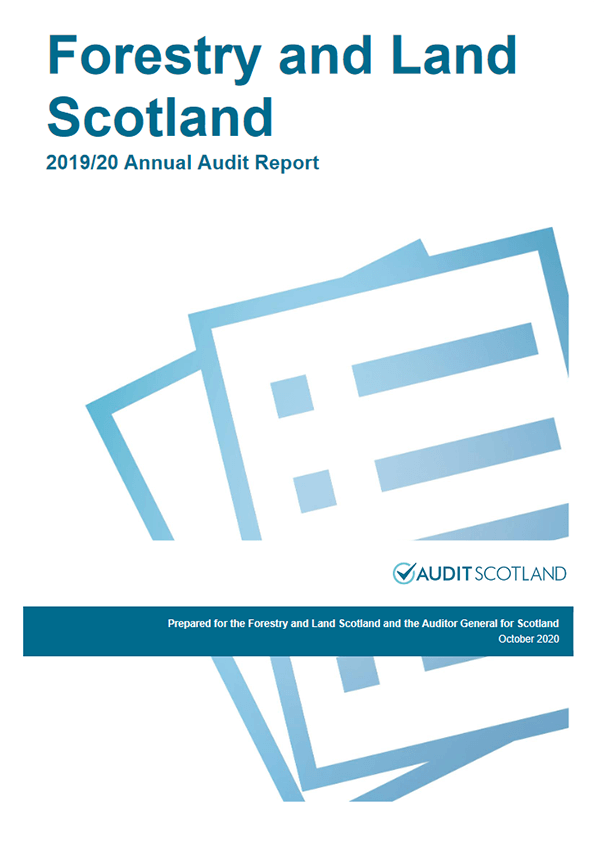 Report cover: Forestry and Land Scotland annual audit 2019/20