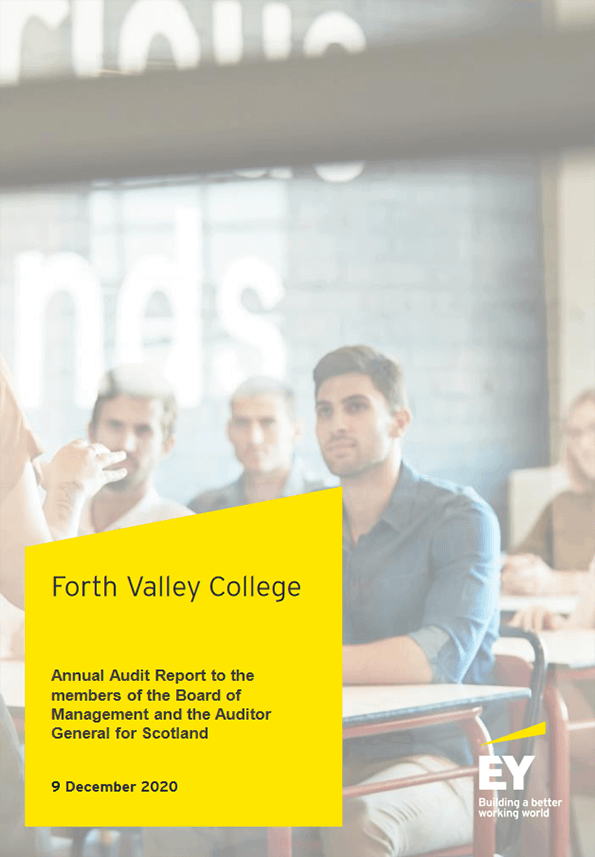Report cover: Forth Valley College annual audit 2019/20