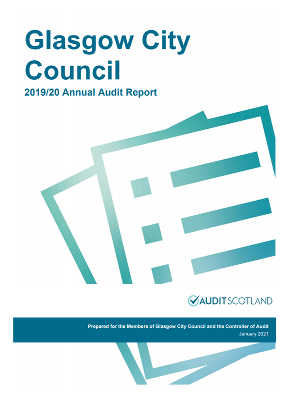Report cover: Glasgow City Council annual audit 2019/20
