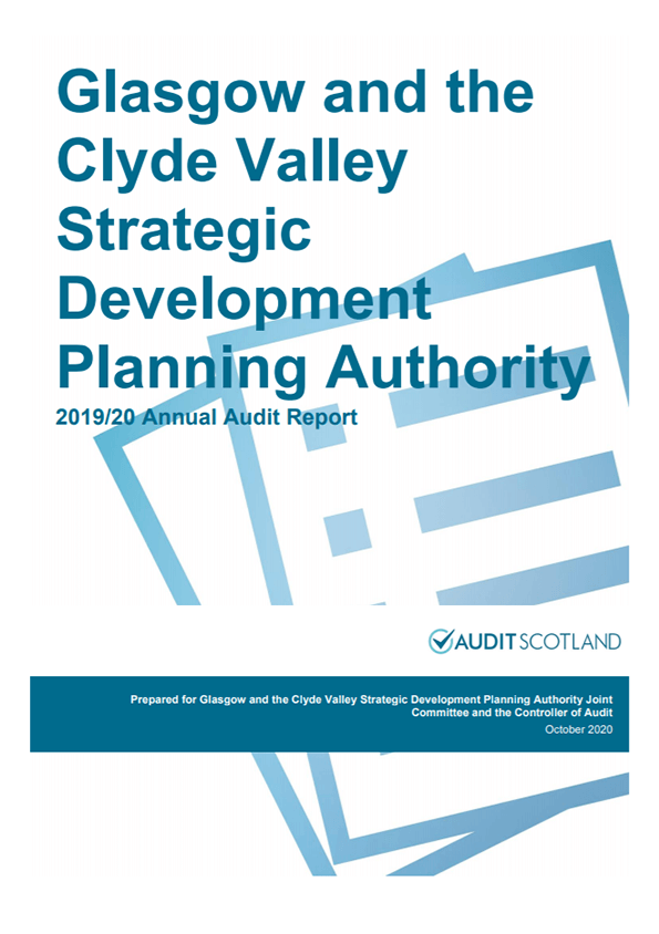 Report cover: Glasgow and the Clyde Valley Strategic Development Planning Authority annual audit 2019/20
