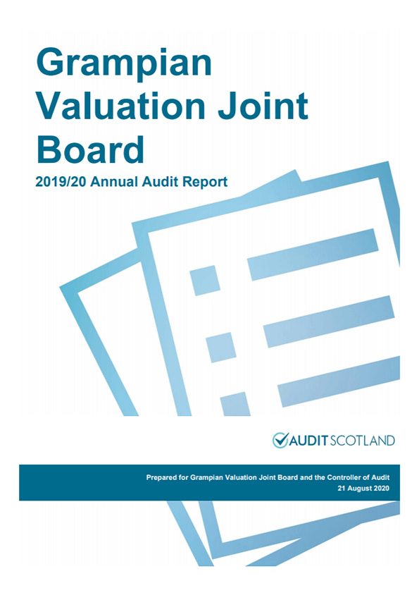 Report cover: Grampian Valuation Joint Board annual audit 2019/20