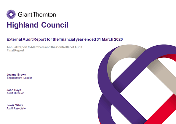 Report cover: Highland Council annual audit 2019/20