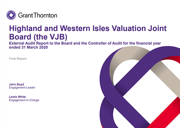 Report cover: Highland and Western Isles Valuation Joint Board annual audit 2019/20