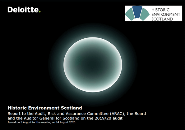 Report cover: Historic Environment Scotland annual audit 2019/20