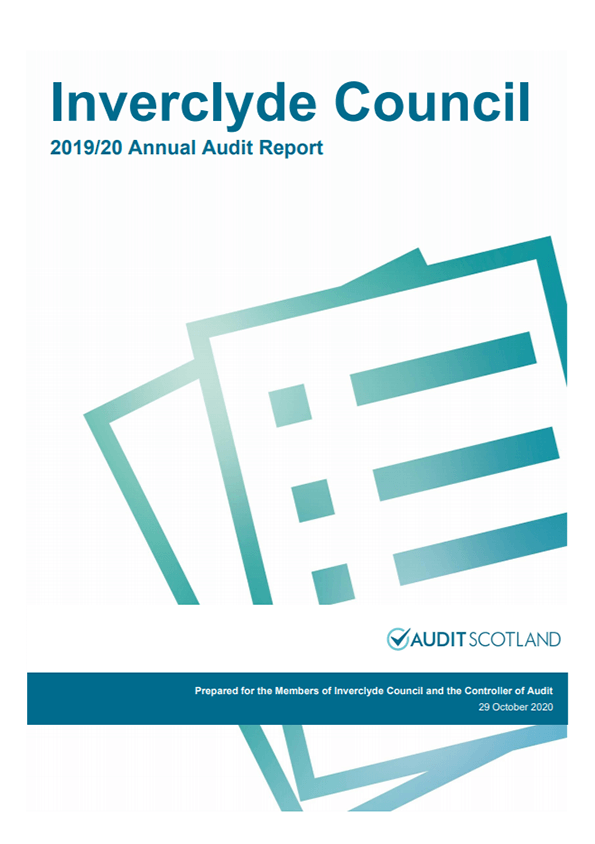 Report cover: Inverclyde Council annual audit 2019/20