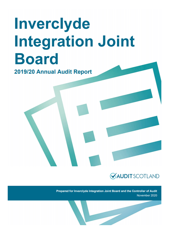 Report cover: Inverclyde Integration Joint Board annual audit 2019/20