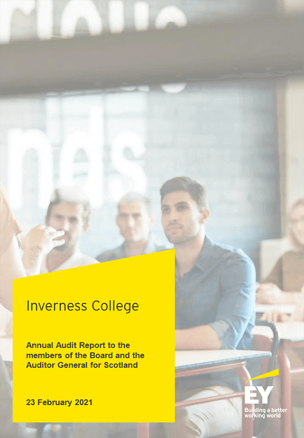 Report cover: Inverness College annual audit 2019/20