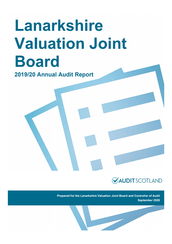 Report cover: Lanarkshire Valuation Joint Board annual audit plan 2019/20 annual audit 2019/20