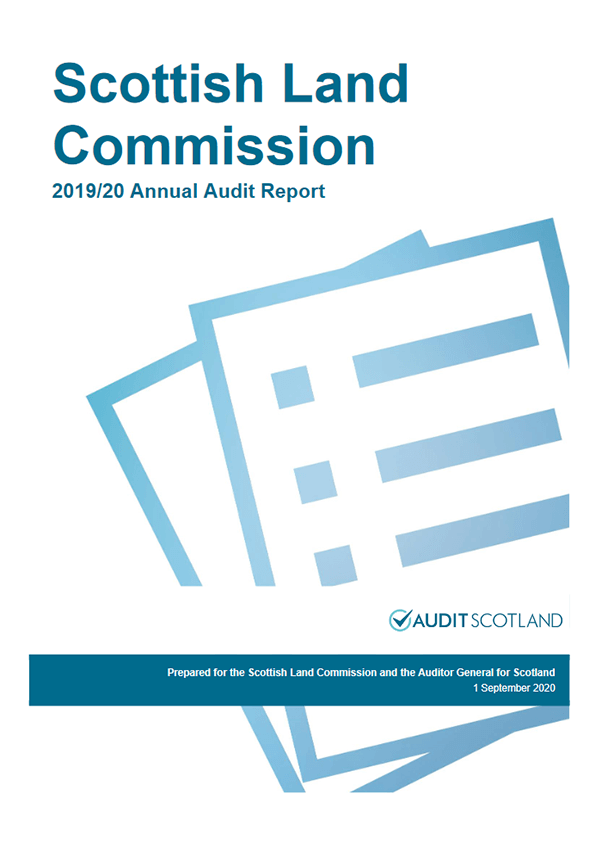 Report cover: Scottish Land Commission annual audit 2019/20