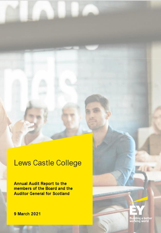 Report cover: Lews Castle College annual audit 2019/20