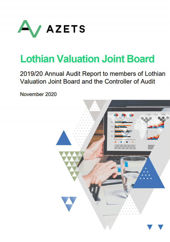 Report cover: Lothian Valuation Joint Board annual audit 2019/20