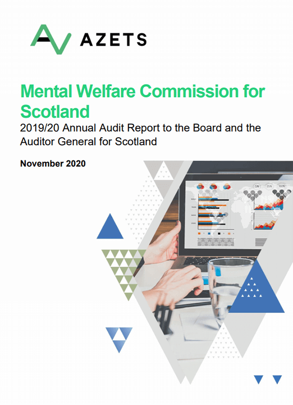 Report cover: Mental Welfare Commission for Scotland annual audit report 2019/20