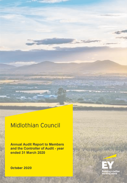 Report cover: Midlothian Council annual audit 2019/20