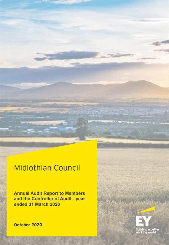 Report cover: Midlothian Council annual audit 2019/20