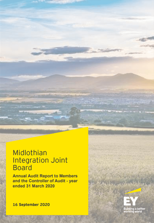 Report cover: Midlothian Integration Joint Board annual audit 2019/20