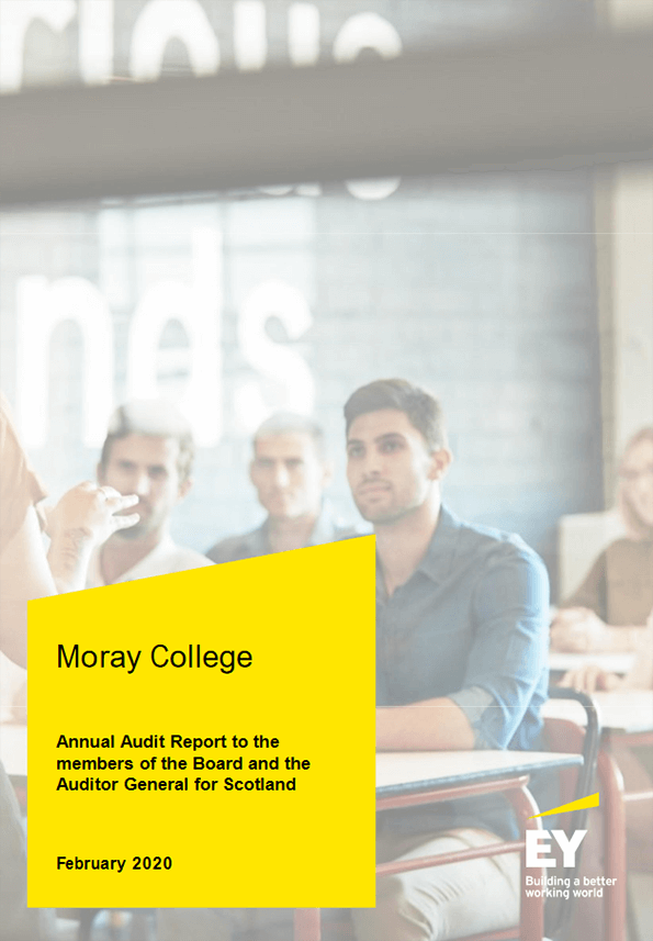Report cover: Moray College annual audit 2019/20