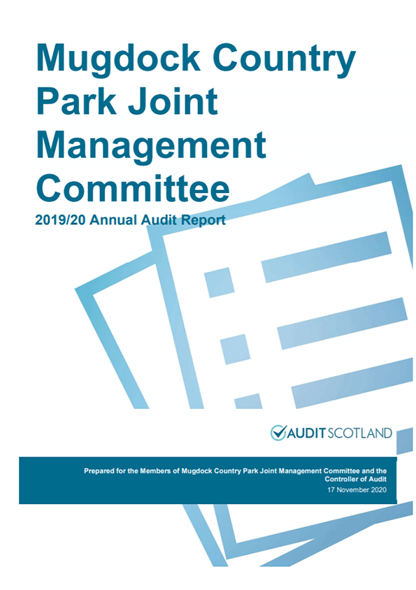 Report cover: Mugdock Country Park Joint Management Committee annual audit 2019/20