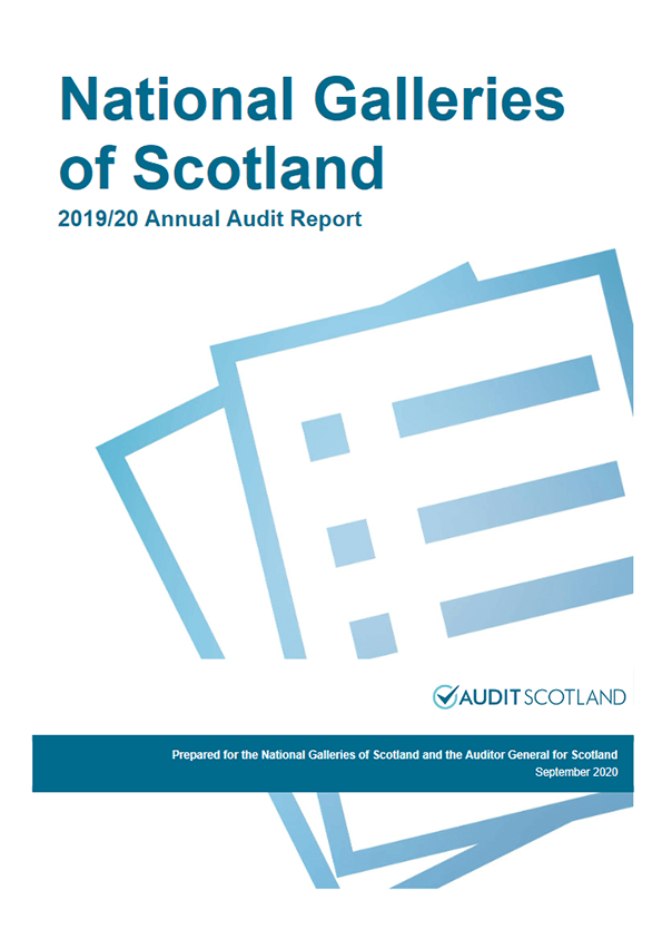 Report cover: National Galleries of Scotland annual audit 2019/20