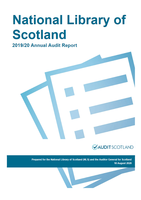 Report cover: National Library of Scotland annual audit 2019/20