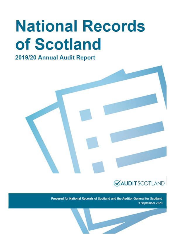 Report cover: National Records of Scotland annual audit 2019/20