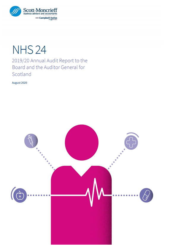 Report cover: NHS 24 annual audit report 2019/20